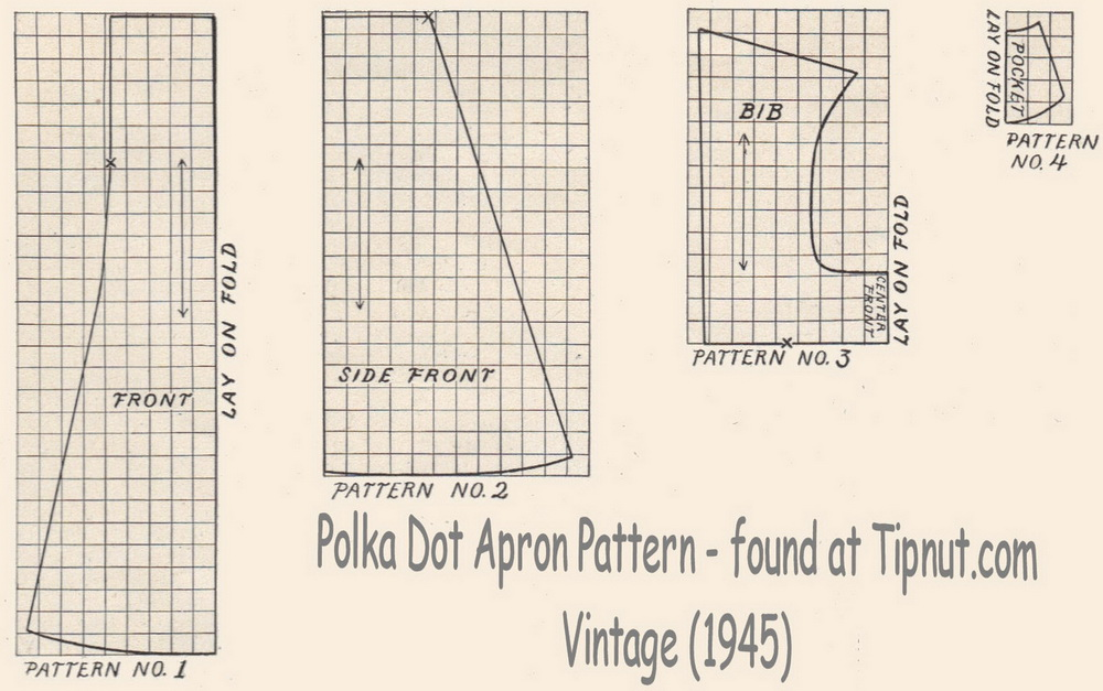 Free vintage apron patterns - DecorLinen.com.