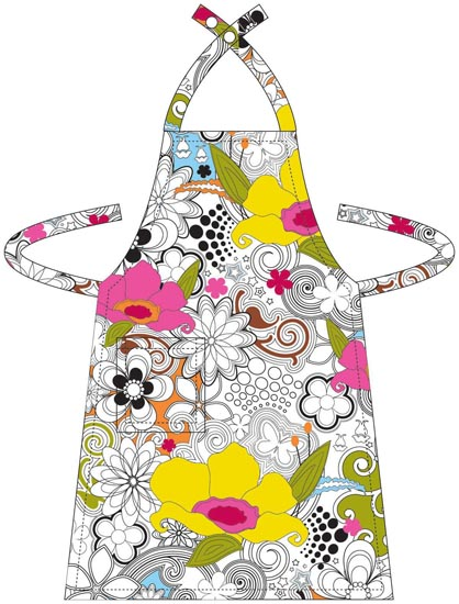 vintage aprons, craft aprons, new york city aprons, personalized aprons