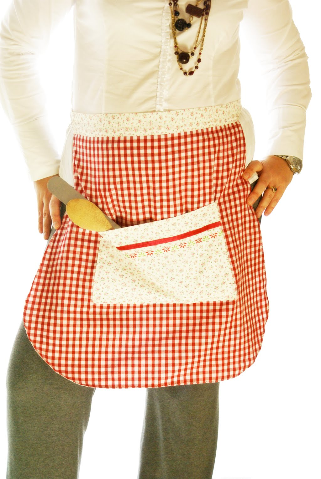 cute aprons, aprons vintage, red apron, pillsbury doughboy apron
