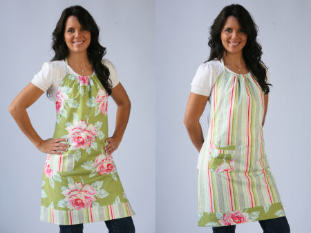 cute aprons, aprons, handmade aprons, red apron