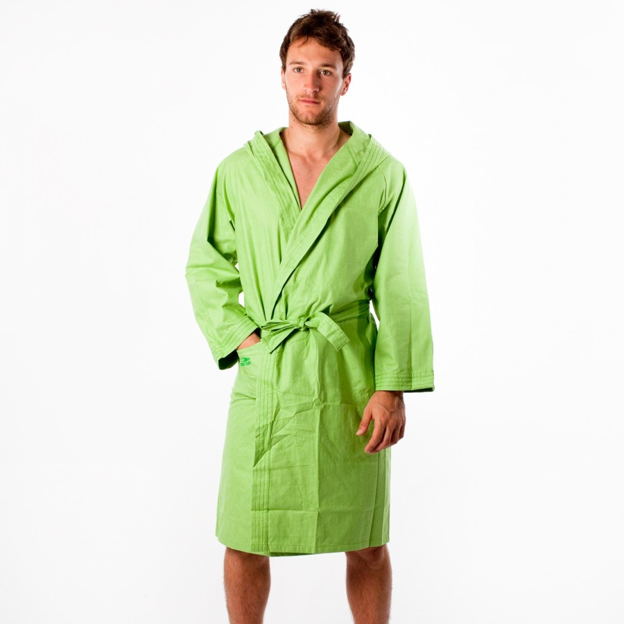 Bathrobe: Mens Hooded Bathrobe