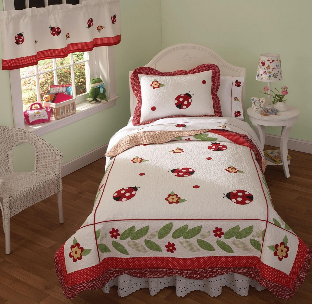 flannel sheets, curtain rods, bed spread and comforters, drapes