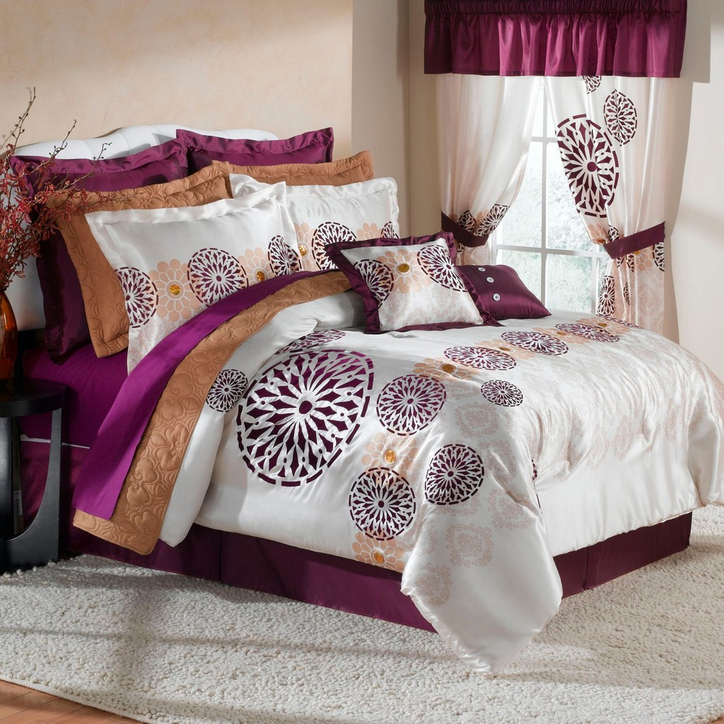 Teen colorful bedspreads for Bedroom curtains and bedding