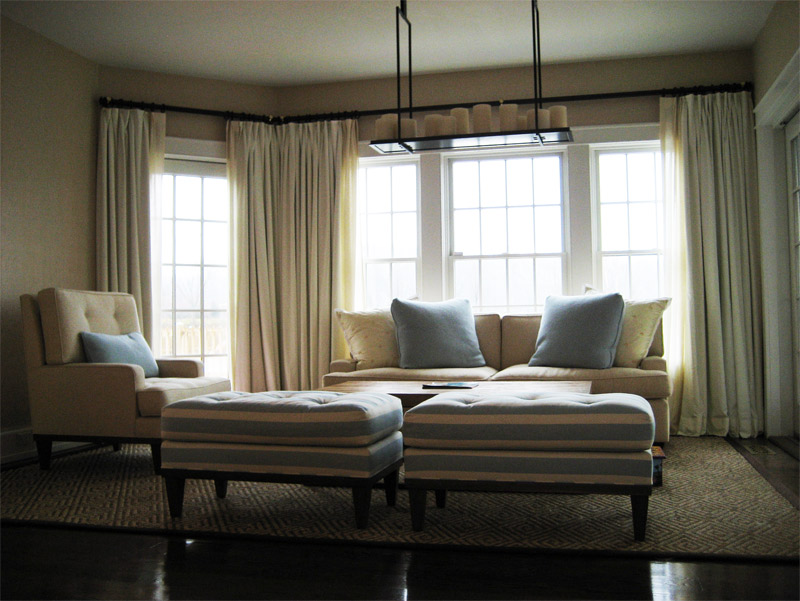 sheer drapes, toile drapes, custom made drapes, contemporary drapes