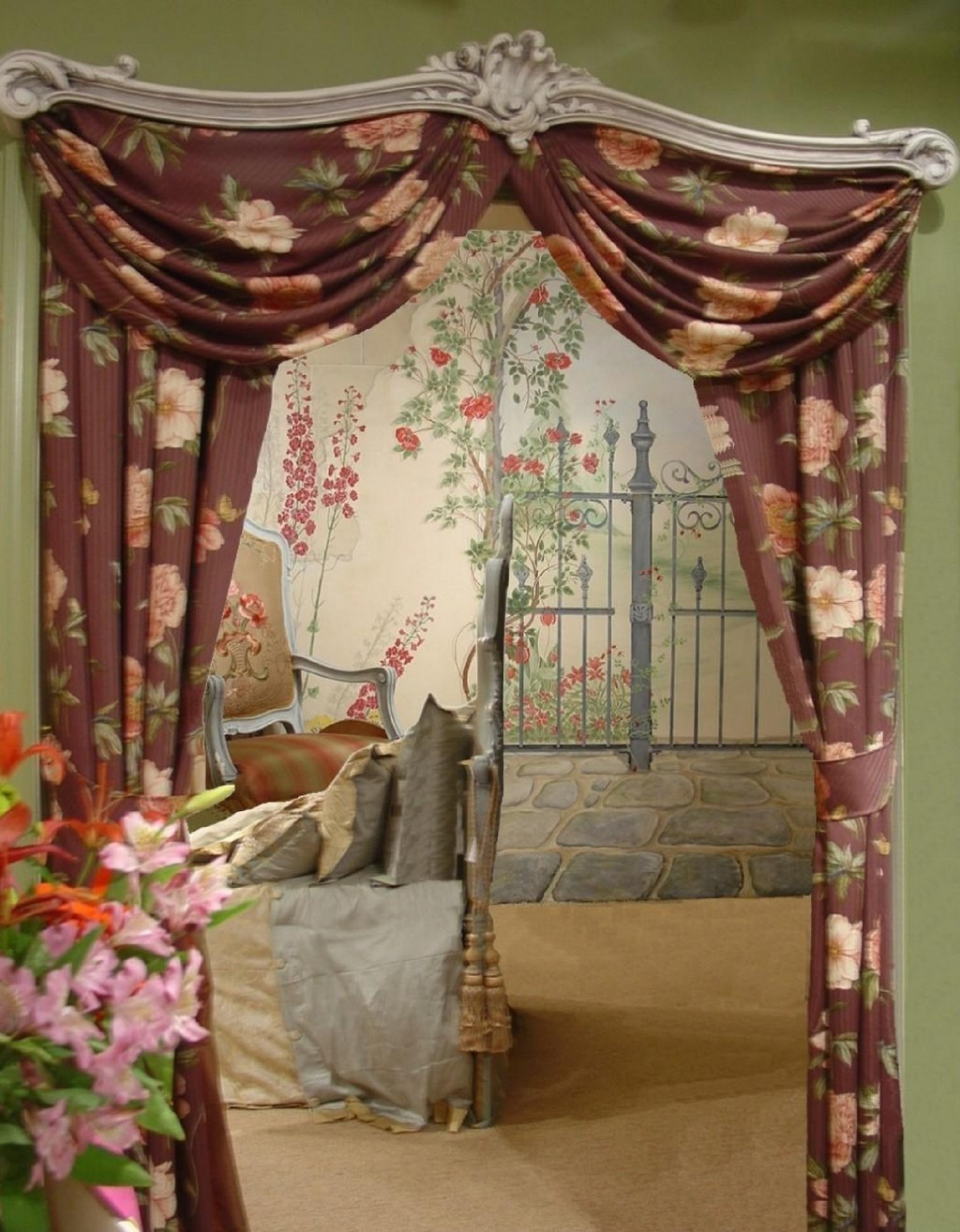 black toile drapes, thermal lined drapes, black out drapes, toile drapes