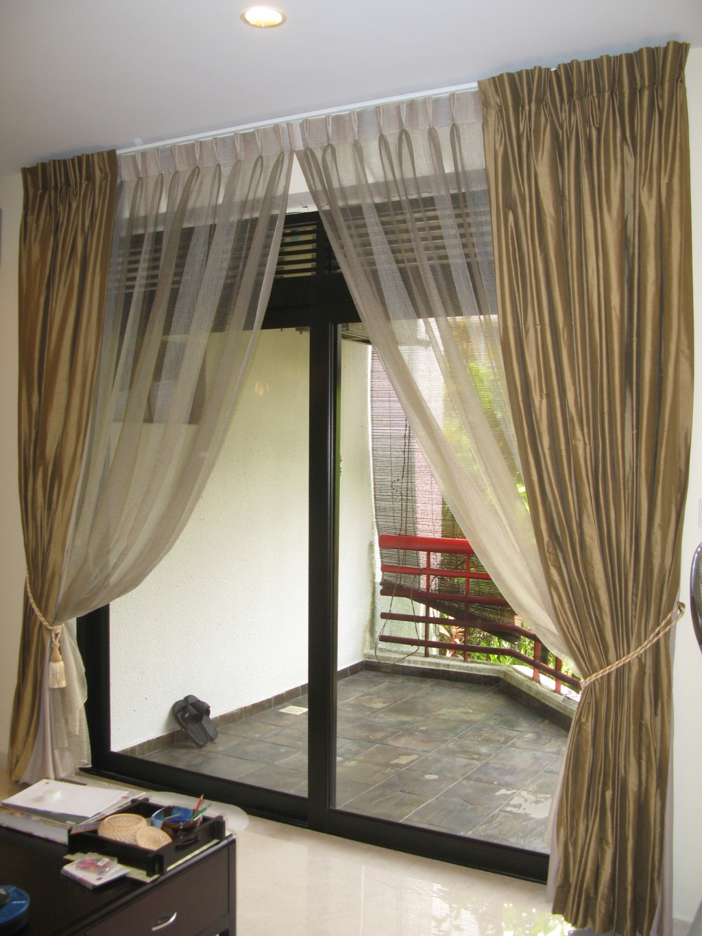 canopy bed drapes, gold drapes, custom drapes, gazebo drapes