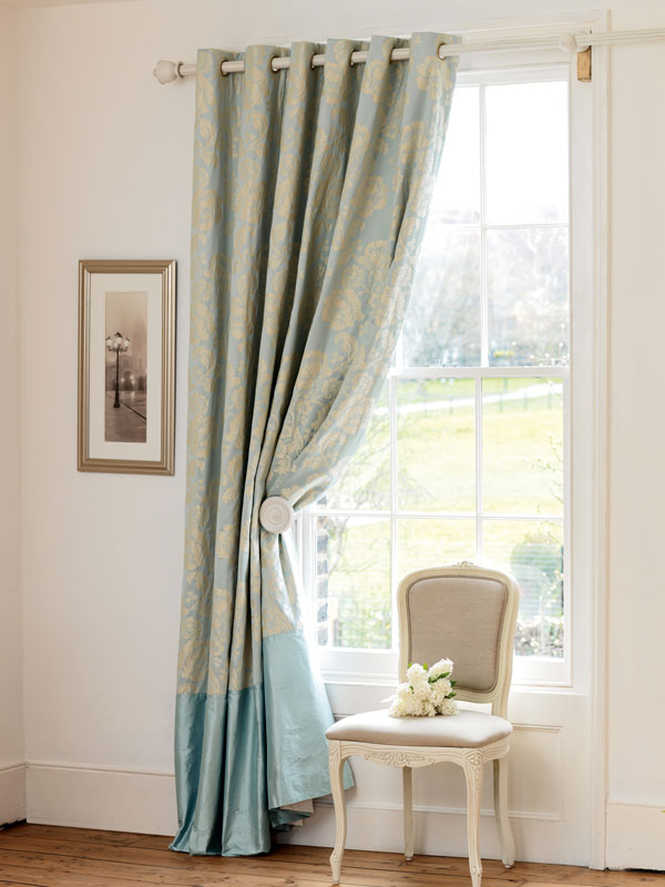 pottery barn silk drapes, velvet drapes, pleated drapes, damask drapes