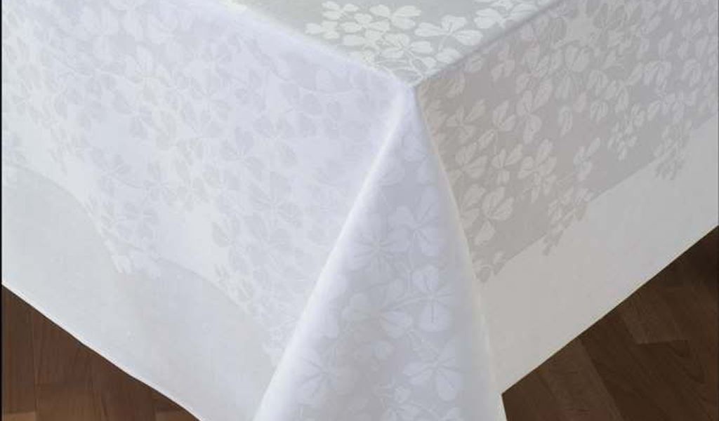 scottish thistles linen, linen and things, irish linen fabric, vintage linen damask tablecloth