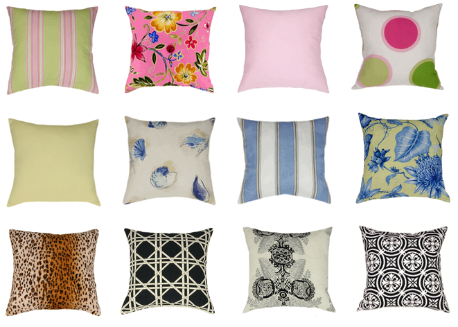 latex pillows, decorator pillows, floor pillows, wedge pillow