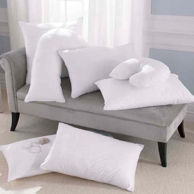 chair pillows, queen pillows, decorator pillows, foam pillows