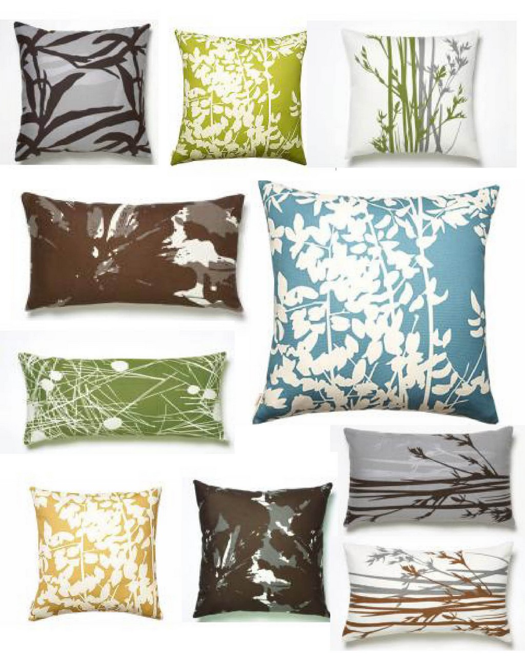 bedroom pillows, chair pillows, memory foam pillows, goose down pillows