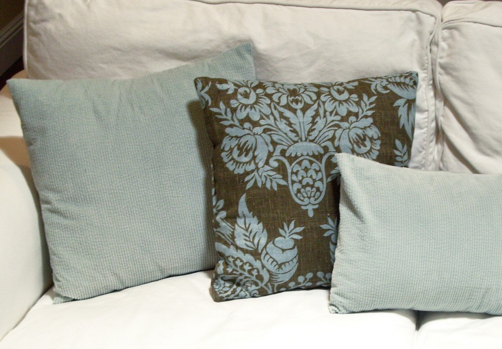 foam pillows, pillow shams, buckwheat hull pillows, patterns for attaching silk petals to accent pillows