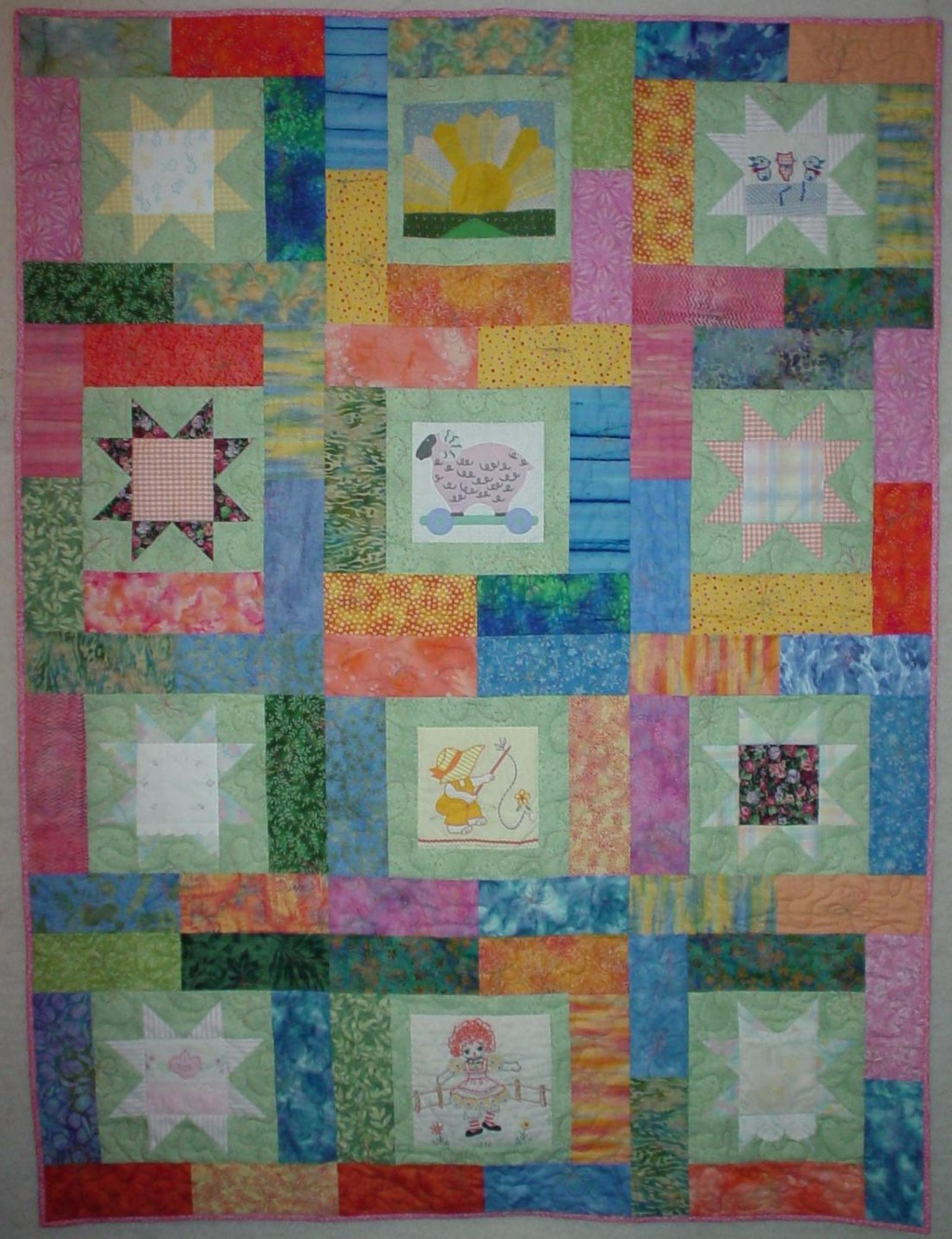 rag quilts, baby quilt patterns, quilts and coverlets, crayon quilts