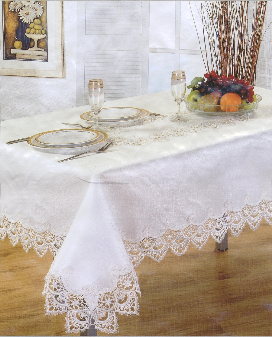 bed linen, white linen snowflake tablecloth, white linen, bed linen