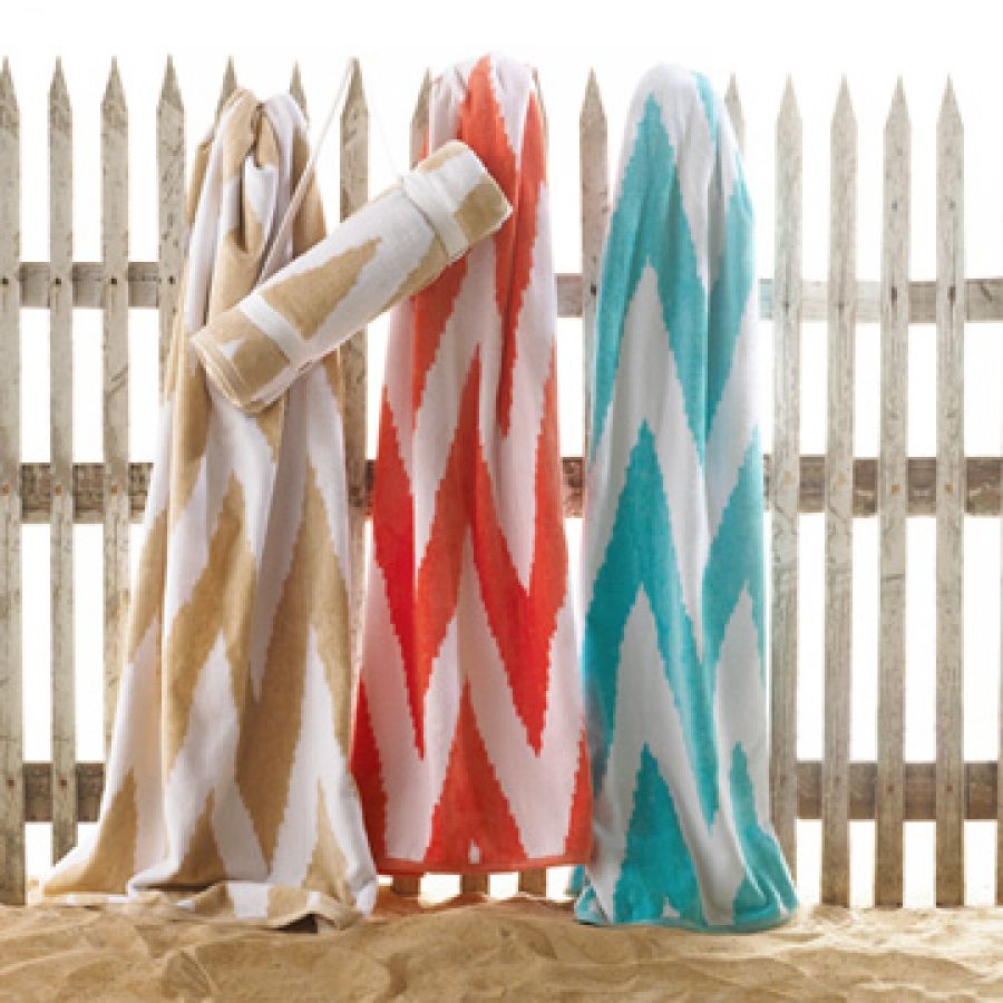 Pocketed Beach Towels Decorlinen Com