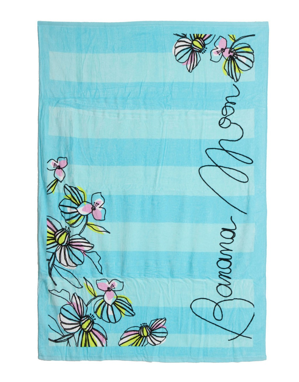 pocketed beach towels, flour sack towels, black and white cow kitchen towels, turquoise towels